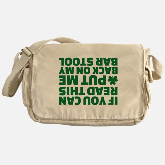 If you can read this put me back on Messenger Bag