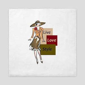 LIVE LOVE STYLE Queen Duvet