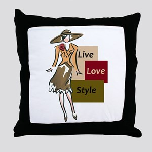 LIVE LOVE STYLE Throw Pillow
