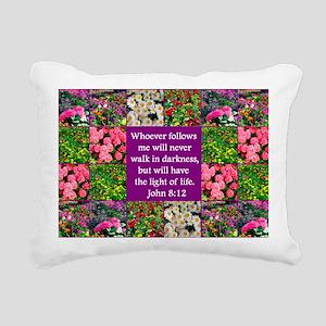 JOHN 8:12 Rectangular Canvas Pillow