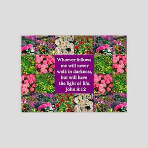 JOHN 8:12 5'x7'Area Rug