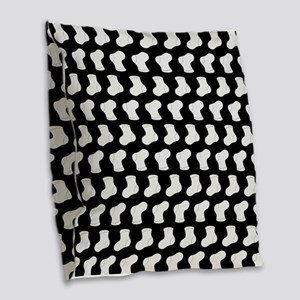 Black and White Cute Little ba Burlap Throw Pillow