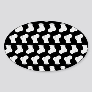 Black and White Cute Little baby So Sticker (Oval)