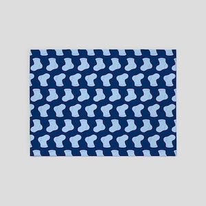 Blue Cute Little baby Socks Pattern 5'x7'Area Rug