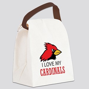 LOVE MY CARDINALS Canvas Lunch Bag