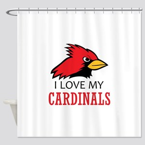 LOVE MY CARDINALS Shower Curtain