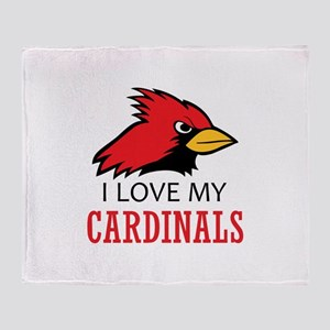 LOVE MY CARDINALS Throw Blanket