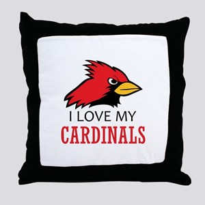 LOVE MY CARDINALS Throw Pillow