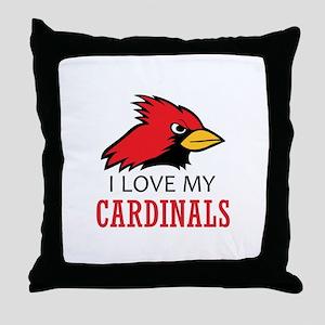 LOVE MY CARDINALS Throw Pillow