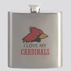 LOVE MY CARDINALS Flask