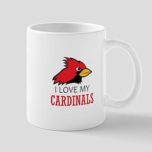 LOVE MY CARDINALS Mugs