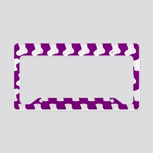 Purple and White Cute Little License Plate Holder