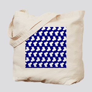 Navy Blue and White Cute Little baby Sock Tote Bag