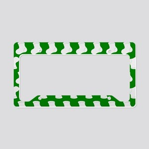 Green and White Cute Little b License Plate Holder