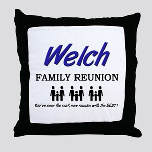 Welch Family Reunion Throw Pillow
