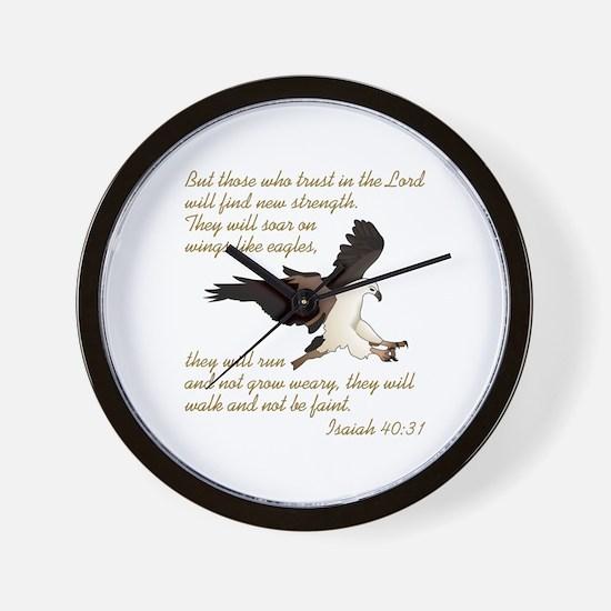 ISAIAH BIBLE VERSE Wall Clock