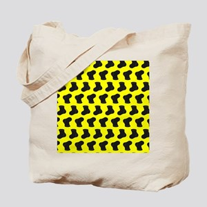 Yellow and Black Cute Little baby Socks P Tote Bag