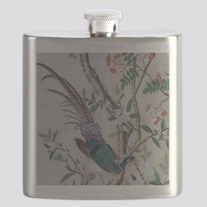Asian pattern on wallpaper Flask