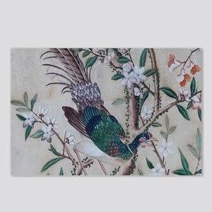 Asian pattern on wallpape Postcards (Package of 8)