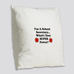 I secretary Burlap Throw Pillow