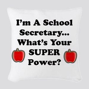 I secretary Woven Throw Pillow