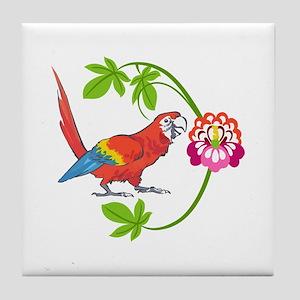 TROPICAL MACAW Tile Coaster