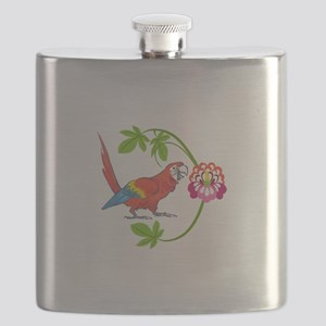 TROPICAL MACAW Flask