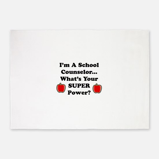 I teach counselor.png 5'x7'Area Rug