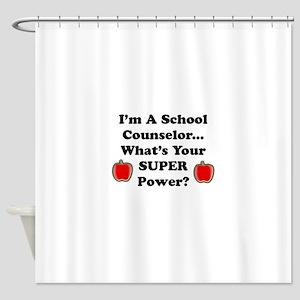 I teach counselor Shower Curtain