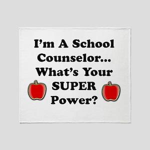 I teach counselor Throw Blanket