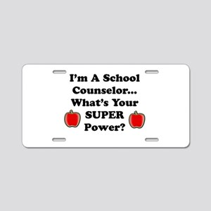 I teach counselor Aluminum License Plate