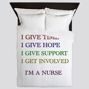 I GIVE TIME copy Queen Duvet