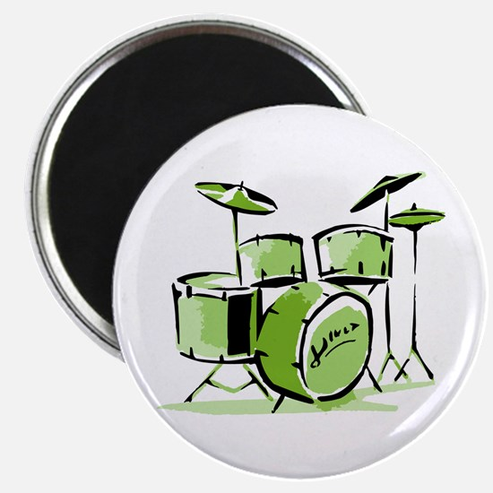 Drum Set Magnet (Green)