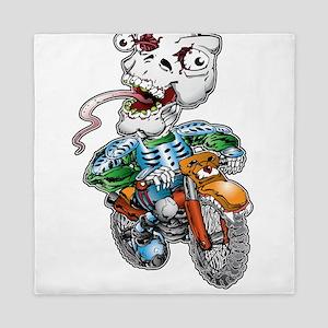 Skull-Tongued Dirtbiker Queen Duvet