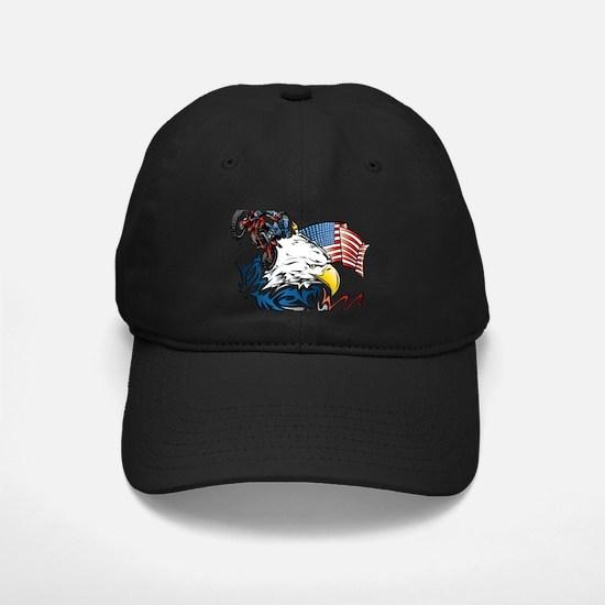 Patriotic Dirtbiker USA Baseball Hat