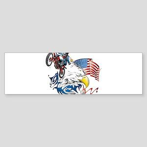 Patriotic Dirtbiker USA Bumper Sticker
