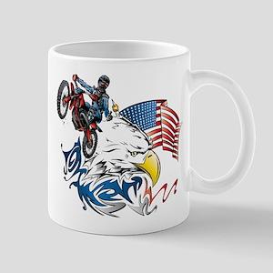 Patriotic Dirtbiker USA Mugs