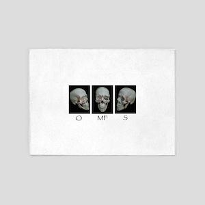 OMFS surgery skull 5'x7'Area Rug