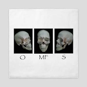 OMFS surgery skull Queen Duvet