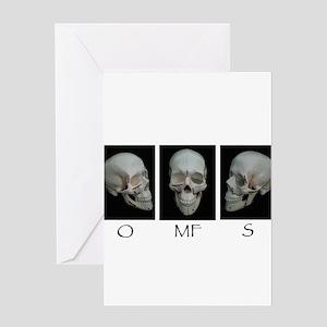 OMFS surgery skull Greeting Cards