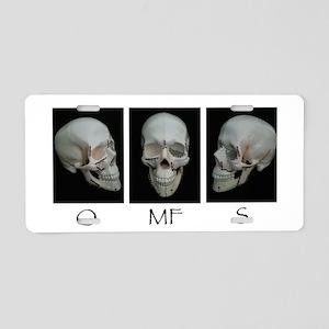 OMFS surgery skull Aluminum License Plate