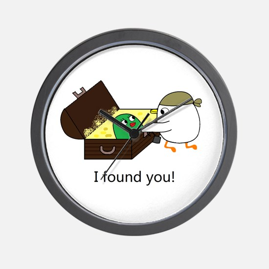 I Found You! Wall Clock