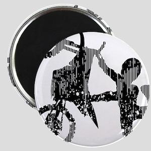 Freestyle Motocross Grunge Magnets