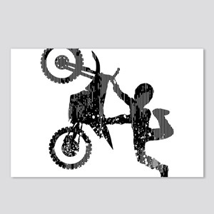 Freestyle Motocross Grunge Postcards (Package of 8