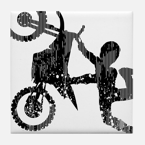 Freestyle Motocross Grunge Tile Coaster
