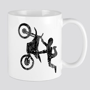 Freestyle Motocross Grunge Mugs