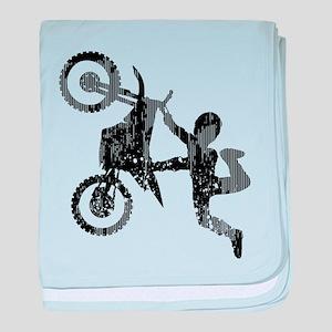 Freestyle Motocross Grunge baby blanket