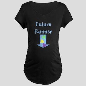 future runner blue Maternity Dark T-Shirt