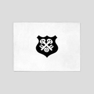 guild symbol locksmith 5'x7'Area Rug