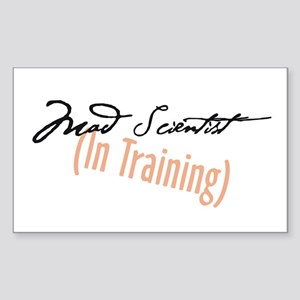 Mad Scientist in Training Rectangle Sticker